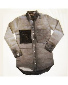 Дамска риза Grey