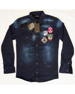 Мъжка риза Dsquared Blue
